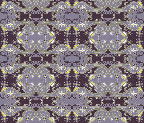 Tainted Love-in-Idleness fabric by ladyrattus on Spoonflower - custom fabric