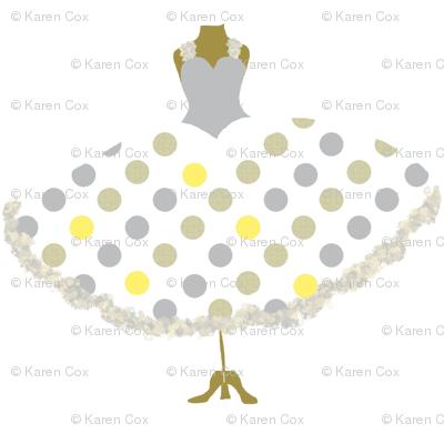 Polka Dot Frock Yellow
