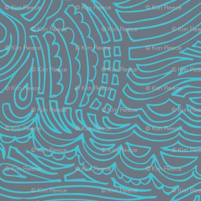 light blue lines on dark gray-ed