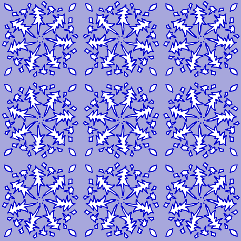 Snowflake fabric by ravynscache on Spoonflower - custom fabric