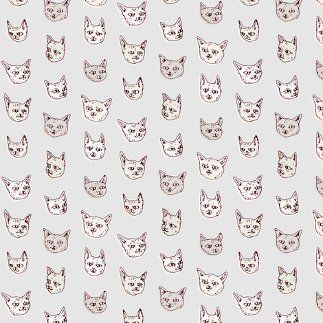 Gritty Kitties | Shades of Grey fabric by imaginaryanimal on Spoonflower - custom fabric
