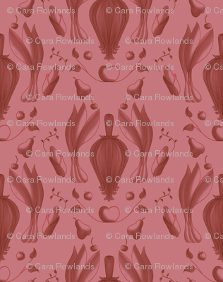 Farmers Market Damask Red