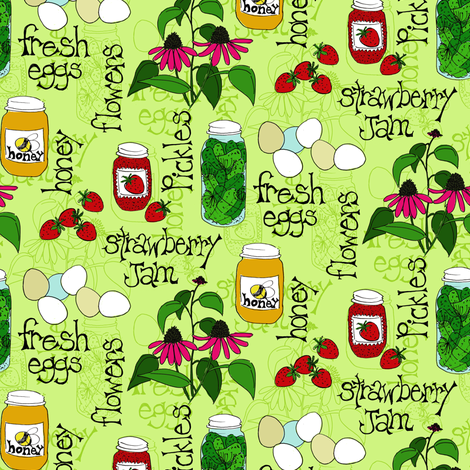 Farm Fresh Market Goodies fabric by holly_helgeson on Spoonflower - custom fabric