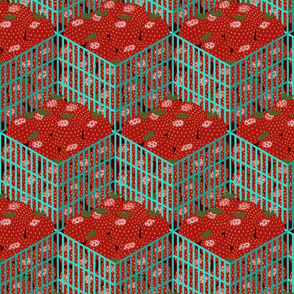 Isometric Strawberry Pints