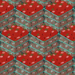 Isometric Strawberry Pints