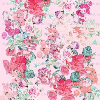 Vintage Floral // Blush, Mint, & Peach