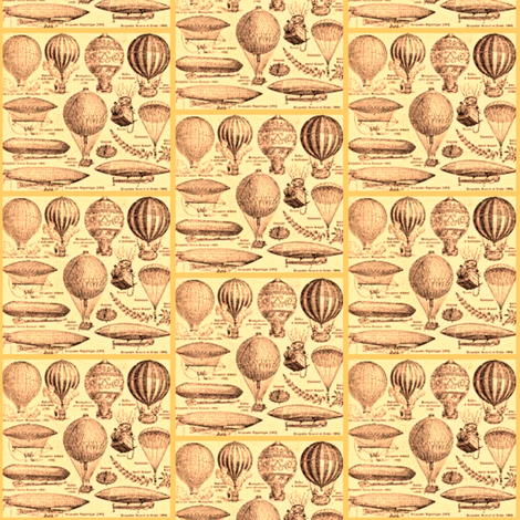 Airships fabric by amyvail on Spoonflower - custom fabric