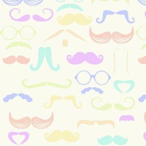 Pastel Moustaches