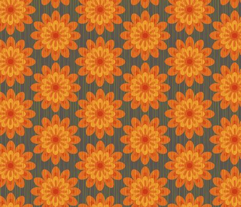 zinnia orange fabric by cjldesigns on Spoonflower - custom fabric