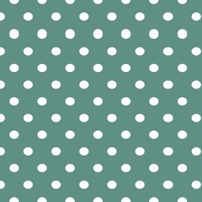Sea Sky Green-Blue with White Polkadot