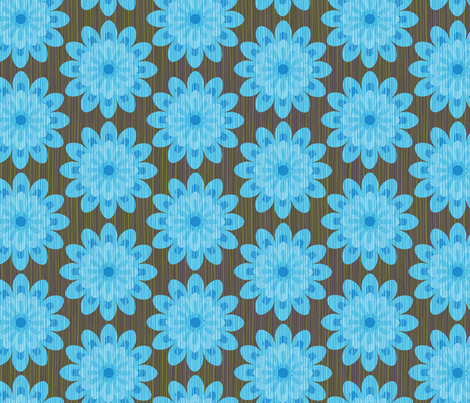 zinnia blue fabric by cjldesigns on Spoonflower - custom fabric