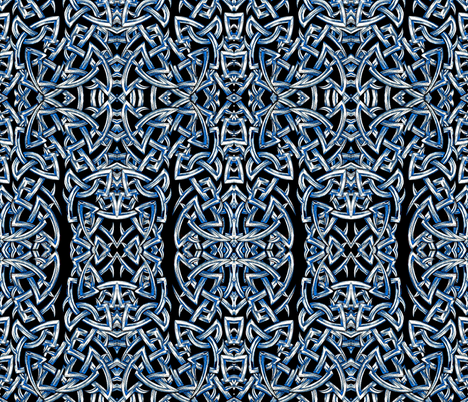 Knot Blue fabric by whimzwhirled on Spoonflower - custom fabric
