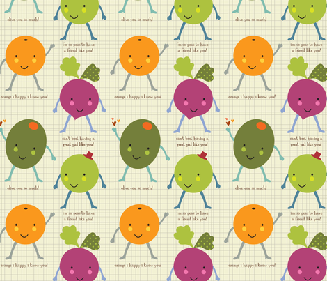Olive you so much! fabric by amel24 on Spoonflower - custom fabric