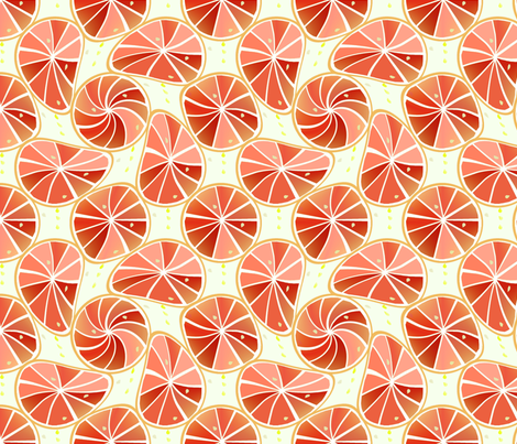 Grapefruit_slices fabric by alfabesi on Spoonflower - custom fabric