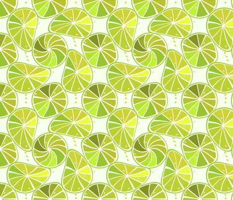 Lime-slices fabric by alfabesi on Spoonflower - custom fabric