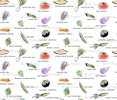 Market Vegetables by the Month