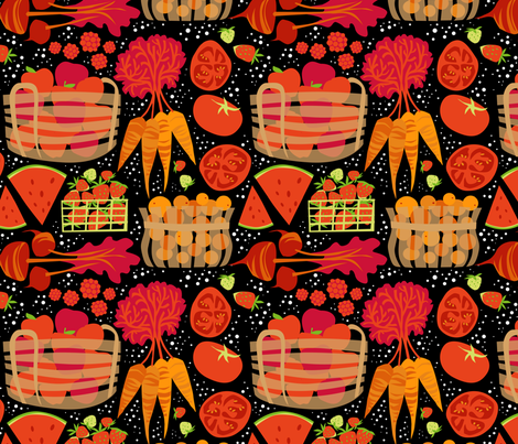 MarketLove_onBlack fabric by robinpickens on Spoonflower - custom fabric