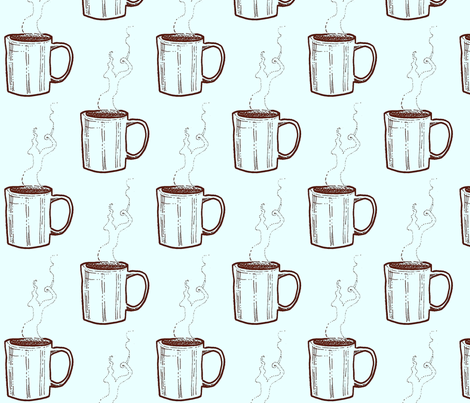 Another Cup of Coffee? fabric by boris_thumbkin on Spoonflower - custom fabric