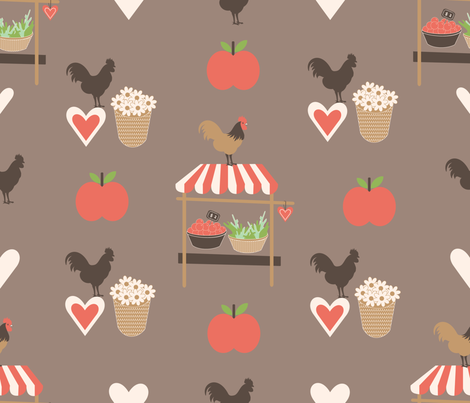 love_farmers_market-01 fabric by lilliblomma on Spoonflower - custom fabric
