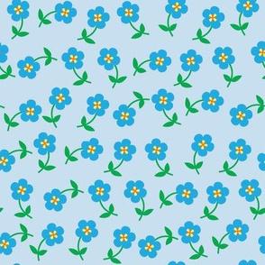 Easy flowers blue