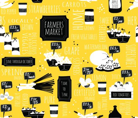 Farmers market fabric by keksmade on Spoonflower - custom fabric