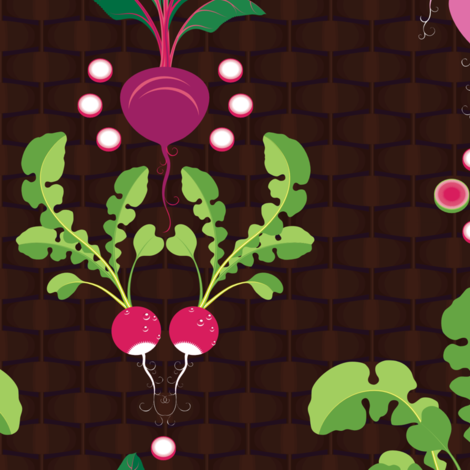 Getting to the Root of It All-Alternate size/PPI fabric by hootenannit on Spoonflower - custom fabric