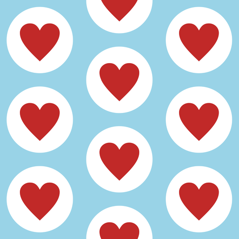 Fresh Polka Hearts fabric by smuk on Spoonflower - custom fabric