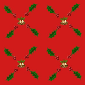 Christmas Holly with Bells