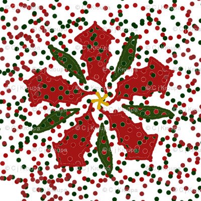 Dotted Christmas Poinsettia