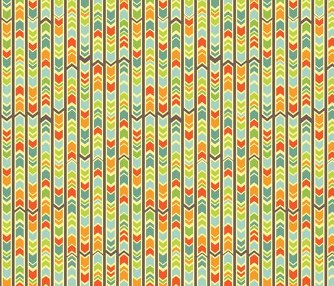 Farmer's Market - Midsummer Palette - Chevron fabric by jennartdesigns on Spoonflower - custom fabric