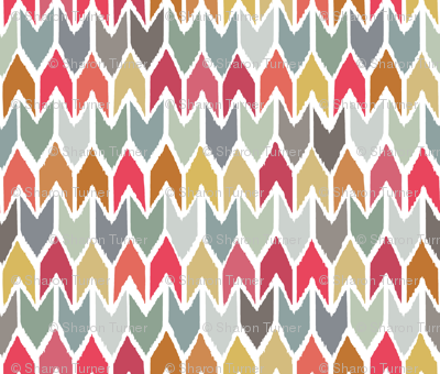 cool beach house ikat chevron small