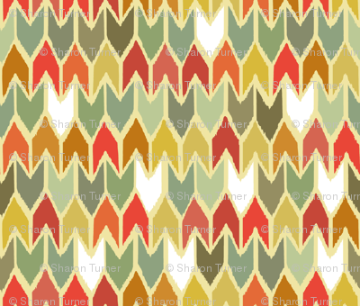 warm beach house ikat chevron small
