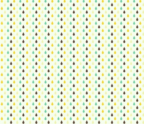 Retro drops fabric by mezzime on Spoonflower - custom fabric