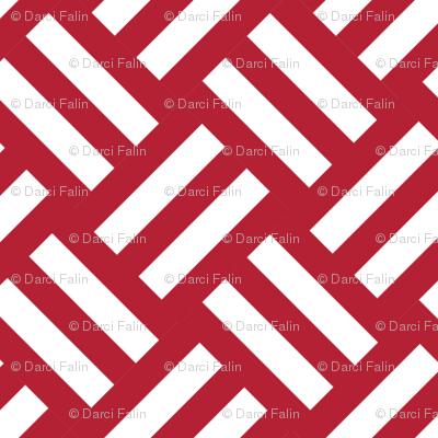 red striped basket