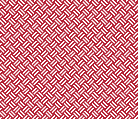 red striped basket fabric by darcibeth on Spoonflower - custom fabric