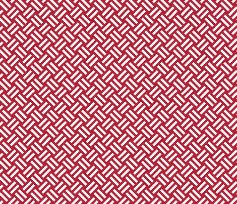 red striped basket fabric by darcibeth on Spoonflower - custom fabric