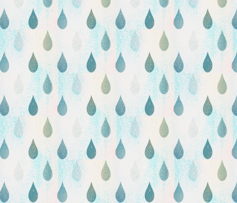 Raindrops fabric by mezzime on Spoonflower - custom fabric