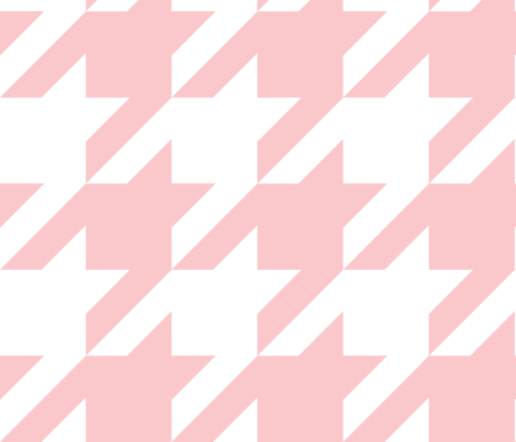 The Houndstooth Check ~ Dauphine and White ~ Medium fabric by peacoquettedesigns on Spoonflower - custom fabric