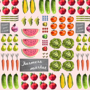 Fresh and local farmers market