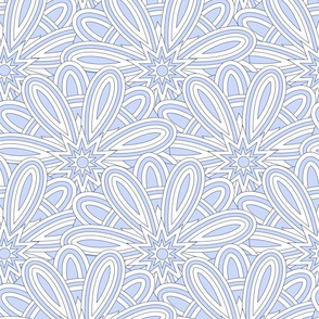 Ethnic blue pattern