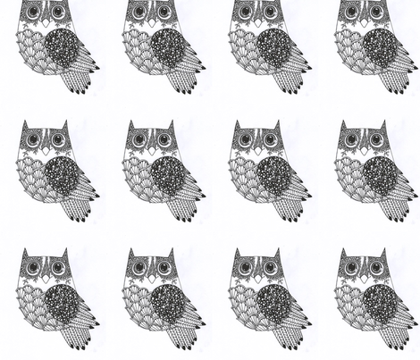Owl fabric by artkaikkonen on Spoonflower - custom fabric