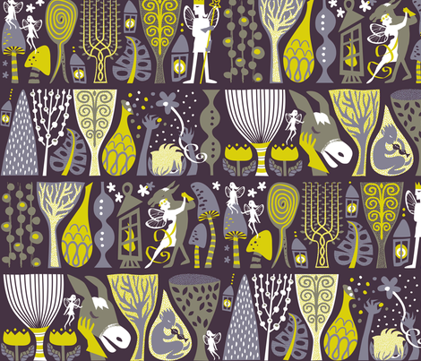 Bottom's Dream - Large Scale  fabric by meliszawang on Spoonflower - custom fabric