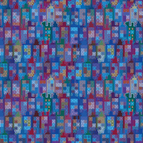 City  fabric by cassiopee on Spoonflower - custom fabric