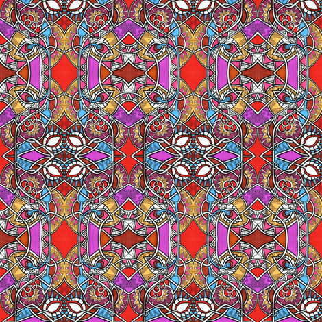 Modern Gems Stained Glass fabric by edsel2084 on Spoonflower - custom fabric