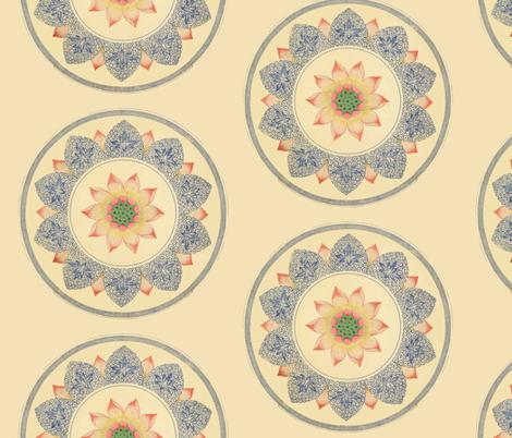 Peach Wheels fabric by ragan on Spoonflower - custom fabric
