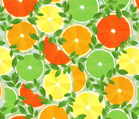 A Slice of Citrus - Large fabric by wildnotions on Spoonflower - custom fabric