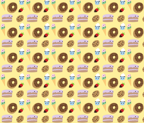 sweet sweets fabric by brittgaithercreations on Spoonflower - custom fabric