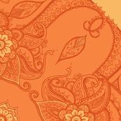 Paisley circle orange