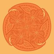 Paisley circle small orange