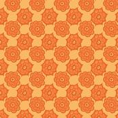 Paisley flowers orange